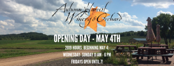 Autumn Harvest opening Day is May 4, 2019