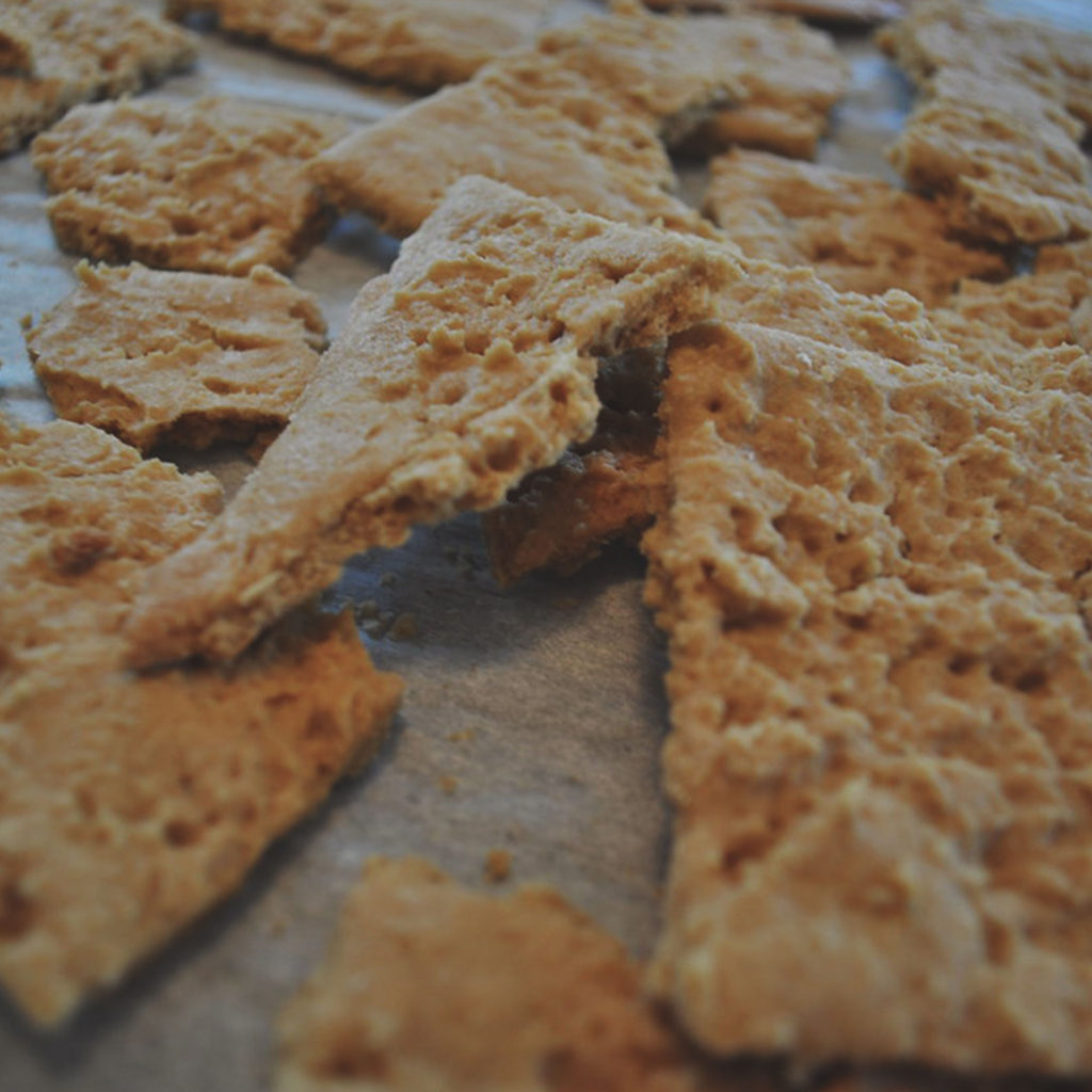 graham crackers on a table